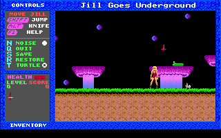 File:Jill of the Jungle - Jill Goes Underground - DOS - Level 0.png