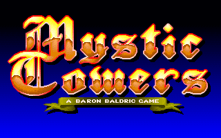 File:Mystic Towers - DOS - Title.png