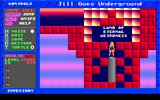 Jill of the Jungle - Jill Goes Underground - DOS - Level 15.png