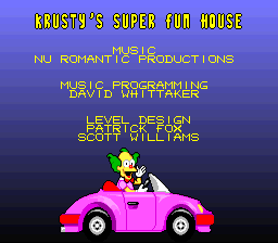 File:Krusty's Super Fun House - SNES - Credits.png