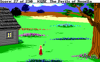 King's Quest 4 - DOS - Rosella Plays Lute.png