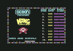 Kong Strikes Back! - C64 - High Score.png