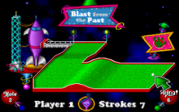 Fuzzy's World of Miniature Space Golf - DOS - Hole 2.png