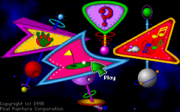 Fuzzy's World of Miniature Space Golf - DOS - Main Menu.png