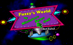Fuzzy's World of Miniature Space Golf - DOS - Title.png