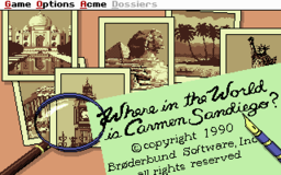 Where In the World Is Carmen Sandiego - 1991 Edition - DOS - Title.png