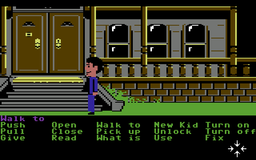 Maniac Mansion - C64 - Outside Mansion.png