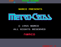 Metro-Cross - ARC - Title Screen.png