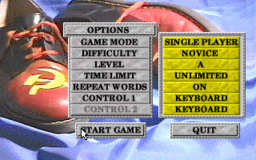Wordtris - DOS - Main Menu.png