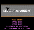 Dragon Warrior - NES - Title.png
