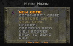 Rise of the Triad - DOS - Menu.png